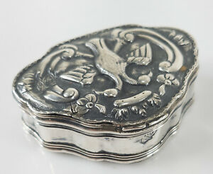 Antique 17th/18th Cent Turkish Ottoman Silver Tughra Double Head Bird Snuff Box