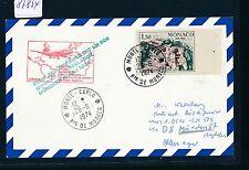 "87854) LH FF München - Rio 4.7.74, Karte ab Monaco ""Palais"""