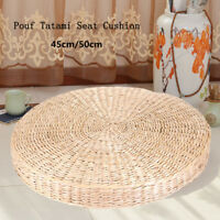 50cm Round Straw Weave Handmade Pillow Floor Yoga Chair Seat Mat Tatami Cushion