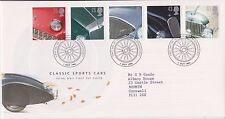 GB ROYAL MAIL FDC FIRST DAY COVER 1996 SPORTS CARS STAMP SET BROCKENHURST PMK