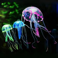 Colorful Artificial Aquarium Jellyfish Ornament Decor Glowing Effect Fish Tank