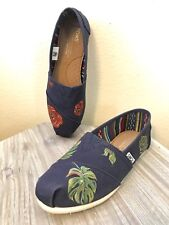 TOMS hand painted canvas shoes