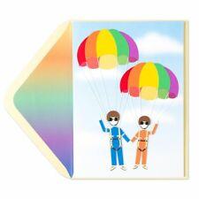 Papyrus Happy Anniversary Rainbow Parachute Couple Anniversary Card