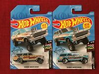 🔥 Hot Wheels Lot of 2! '64 Nova Wagon Gasser Jerry Rigged Gray and Blue 🔥