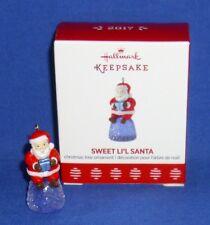 Hallmark Miniature Ornament Sweet Li'l Santa 2017 Gumdrop Candy NIB Free Ship