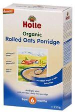 Holle Organic Baby Porridges-Rolled Oats Porridge-Single Carton,250g(Pack of 10)