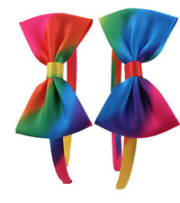 NEW Beautiful Satin Ribbon Rainbow Hair Band, UK Seller
