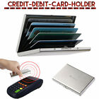 Thin Aluminum Metal Wallet Credit Card Holder Protection Case IMS RFID Blocking
