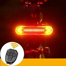 Bicycle Turn Signal Light USB Indicator LED Bike Rear Tail Laser Remote Control