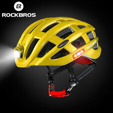 RockBros Cycling Road Bike MTB Protective Helmet with Light Size 57-62cm Yellow