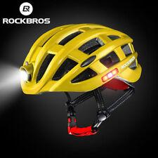 ROCKBROS Ultralight Cycling Road Bike MTB Helmet with Light Size 57-62cm Yellow