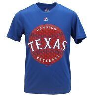 Texas Rangers Official MLB Majestic Cool Base Youth Size Athletic Shirt New Tags