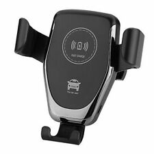 Qi Fast Charging Wireless Charger Car Mount Phone Holder Clamping UK
