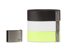 Nike Men's 3-in-1 Web Belt Pack, Black/White/Neon, One Size