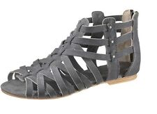 Ladies Caterpillar Suede Leather Grey Gladiator Sandal Style - Weavement UK 5