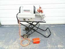 Ridgid 1822 Compact Auto Pipe Threader Rolling Cart 811a Die 1224 300 535