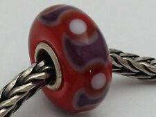 Authentic Trollbeads Ooak Universal Unique 141 Murano Glass Bead Charm Fits All