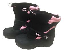 Totes Size 5 Black Pink Strap Leather Rubber Strap Closure Slip On Boots NEW