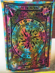 Cycle of Ages mandala Wall Hanging Double Tapestry Bedspread Hippie Bohemian New