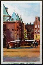 Esperanto – PK 21-a Kongreso de SAT Amsterdam 1948 – Nieuwe Markt met de Waag