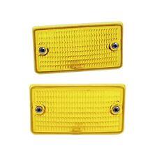 L & R Mercedes R107 ULO Below Bumper Turn Signal Lens 0028261790 / 0028261890