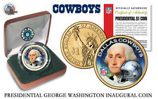 DALLAS COWBOYS NFL USA Mint PRESIDENTIAL Dollar Coin velvet box and coa*NEW*