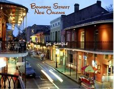 Louisiana - New Orleans BOURBON STREET #2 - Flexible Fridge Magnet
