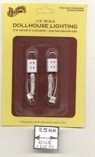 Half Scale Electrical Twin Socket outlet receptacle  H2202 dollhouse 12 volt 2pc