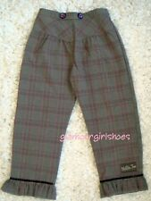 Matilda Jane~Gypsy Blue Plaidko Ruffles Pants~8~Nwt