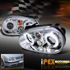 NEW For All 1999-2005 VW Jetta MK4 MK-4 Halo Projector LED Headlights Chrome