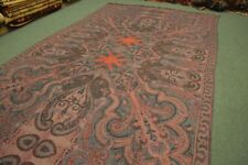 8.10 by 4.5 FT Antique Paisley Rectangular Shawl,Vintage Kashmir Shawl 247 x 138