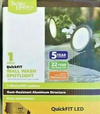 Lot of 2 Better Homes & Gardens LED Wall Wash Spotlights 5 Watts QuickFIT New