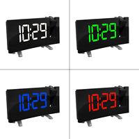 Horloge Numérique USB Radio Réveil à Projection FM avec Double Alarmes Snooze