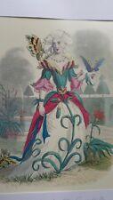 Illustration de Grandville - Fleurs Animées - Oeillet -