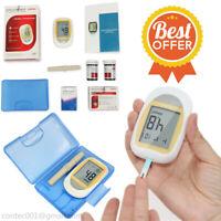 glycémie lecteur de sucre moniteur LCD test diabétique bandelettes de test 50PCS