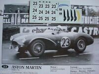 DECALS KIT 1/43 ASTON MARTIN DB3S 2 LE MANS 1955 3 VERSION