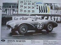 DECALS KIT 1/43 ASTON MARTIN DB3S 2 LE MANS 1955 3 VERSION DECALCOMANIA