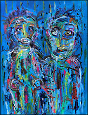 AMOUR FUSIONNEL  modern art oil painting