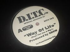 """D.I.T.C. - Way Of Life, 12"""", Promo, (Vinyl)"""