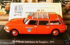 CITROEN ID 19 BREAK AMBULANCE POMPIER 1975 NOREV 1/43 EDITION ATLAS CHATSLAUDREN