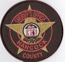 Hancock County Sheriff Office Police patch Georgia GA