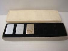 Rare coffret briquets ZIPPO lighter Anniversary 10th à 60th silver Neuf NEW