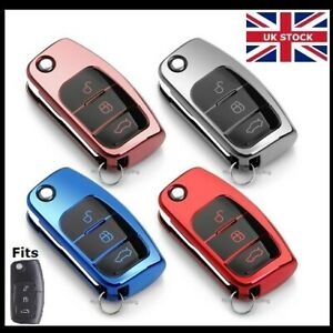 3 Button Key Remote Fob Cover For Ford Fiesta Mondeo Focus Cmax Smax Case T43*