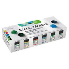 KREUL Hobby Line 73600 Magic Marble Marmorierfarbe Set Grundfarben 6 x 20 ml