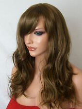 Light Brown Adult real Natural Wavy Fashion Costume Womens Ladies Hair wig A17