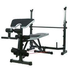 Folding Weight Bench Gym Equipment Lifting Chest Press Exercise Fitness 2 Rope