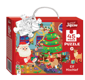 45pc Junior Jigsaw ELF MISCHIEF - Ages 3+ By Hinkler - New