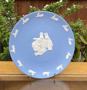 Wedgwood Blue Jasperware Jasper Ware Peter Rabbit 17cm Cabinet Plate
