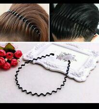 01845384e79 Unisex Men s Women Sports Wave Hair Band Metal Black Hairband Headband  Aliceband