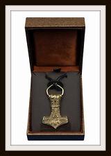 Vikingo Thor's Martillo ~ Bronce Colgante ~ Mjolnir amuleto ~ de St Justin Libre P&P